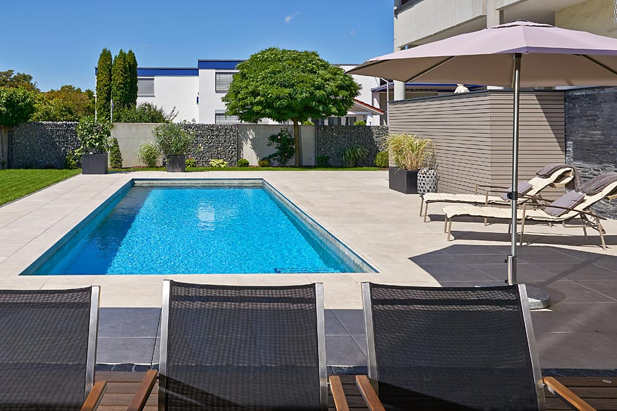 Pool In Terrasse Integriert Wohn Design